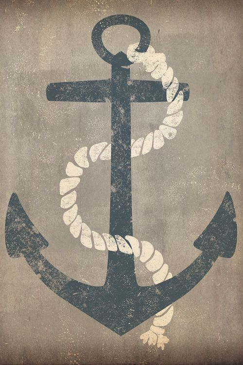 Nautical Anchor By Ryan Fowler Graphic Art On Wrapped Canvas In Grey Nautical Canvas Art Nautical Painting Canvas Art Prints