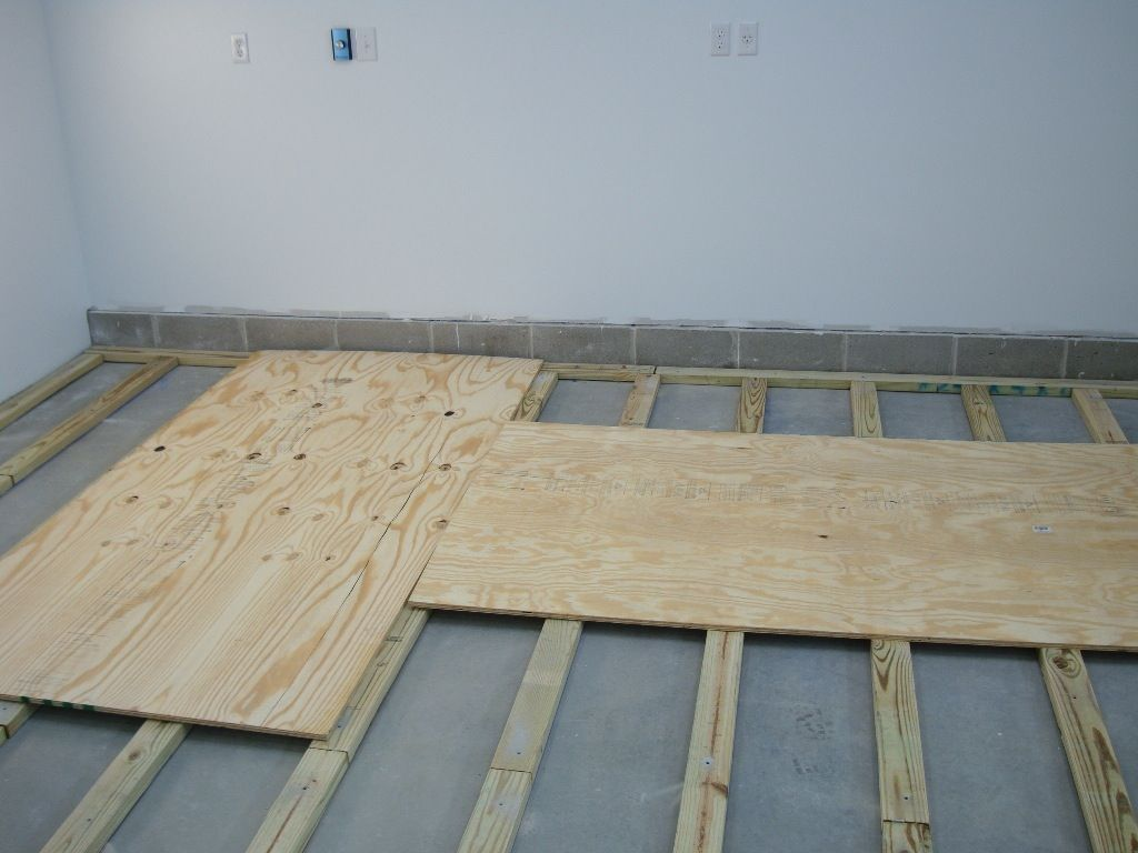 Dave 39 S Experience Installing A Plywood Floor With 2x4 Sleepers In His Wood Shop Flooring Options Basement Flooring Waterproof Basement Flooring Options