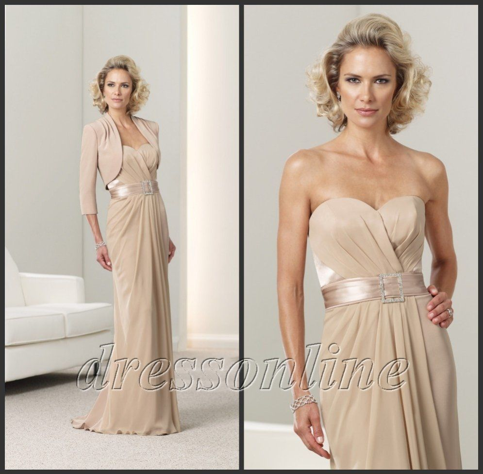 champagne mother of the bride dress | wedding | Pinterest ...