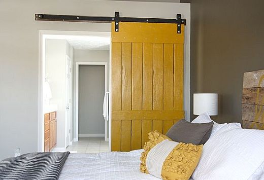 Yellow Interior Barn Door For Bedroom Diy Crafts That I Love
