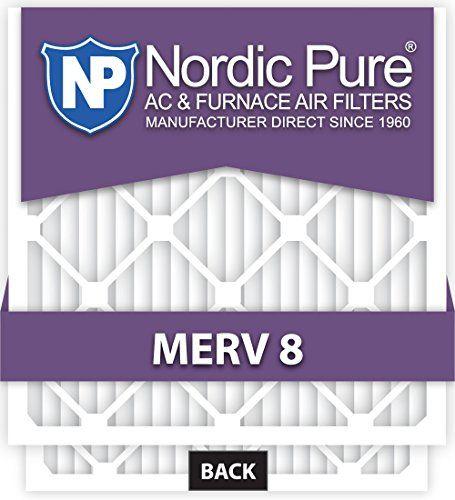 Nordic Pure 14x20x1m8 6 Merv 8 Pleated Ac Furnace Air Filter