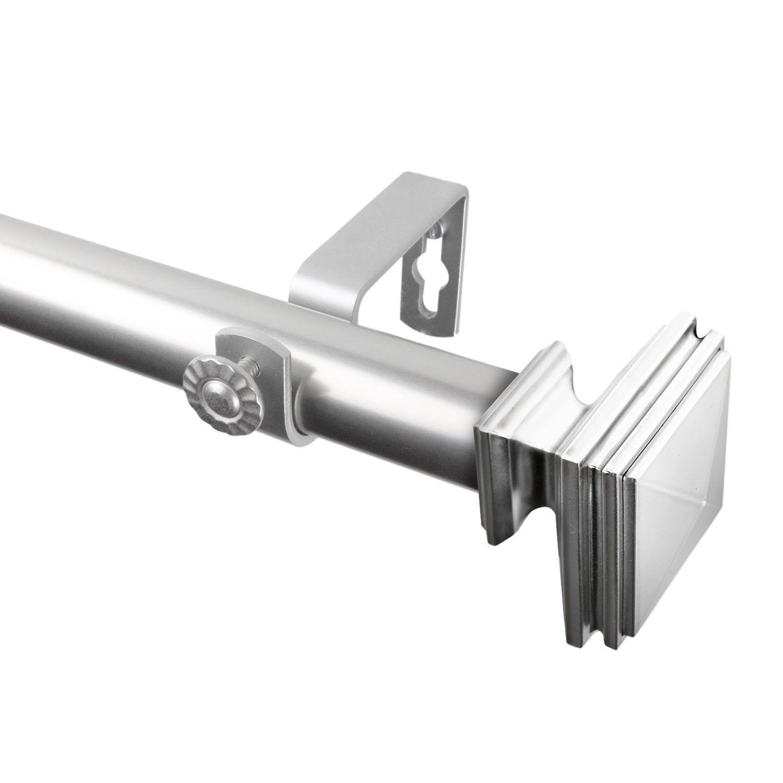 Rod Desyne Bedpost 1 Steel Curtain Rod 28 48 Satin Nickel As