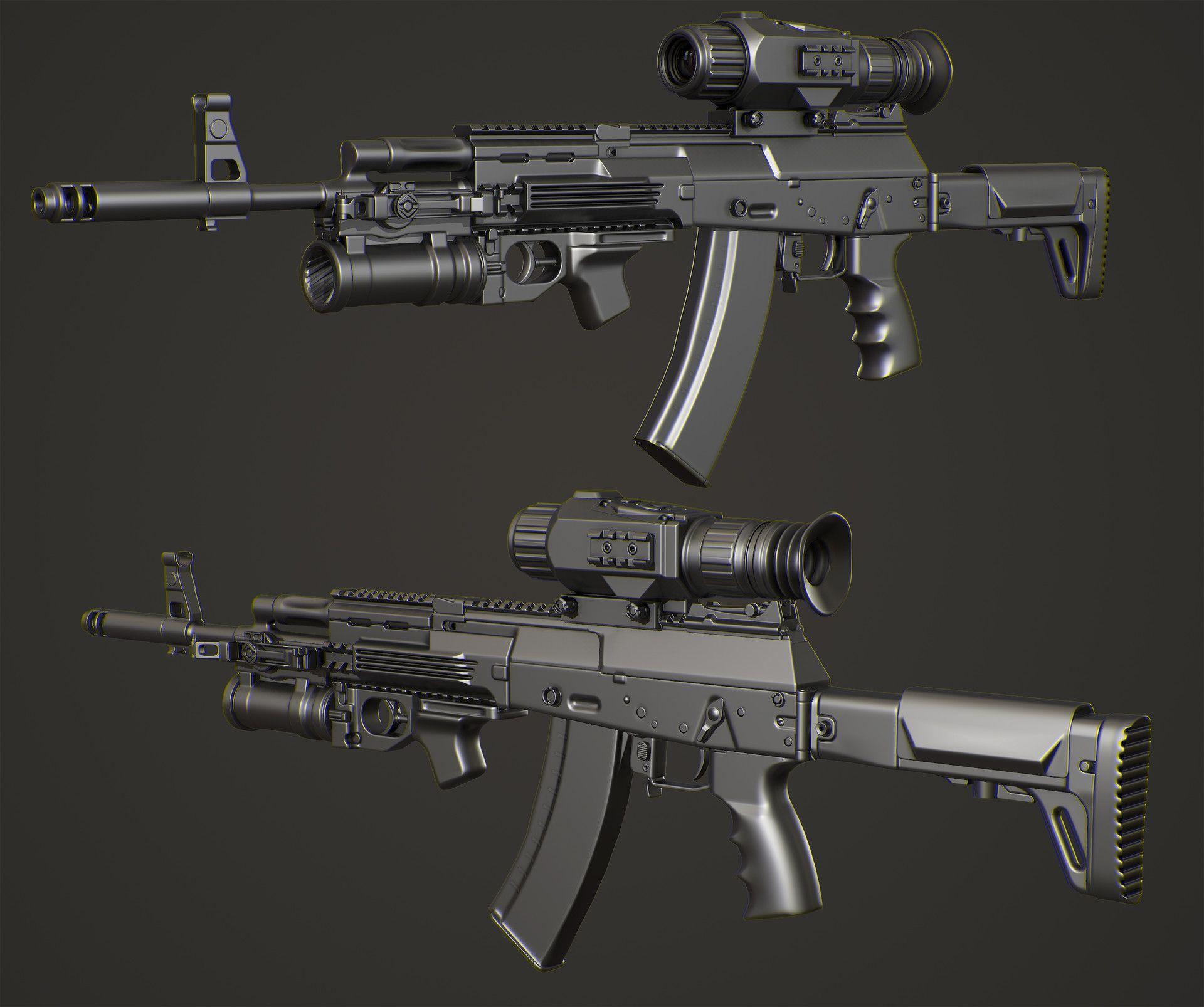 ArtStation - AK12 with ATN Digital Scope, Fridock 3D   ASR