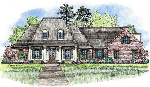 European Style House Plans   3176 Square Foot Home, 1 Story, 4 Bedroom And
