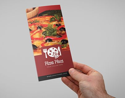 Check Out New Work On My Behance Portfolio Pizza Place Trifold