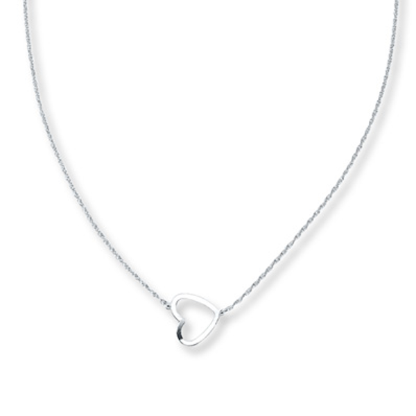 300068965 Heart Necklace Sterling Silver in 2019 | Products | Kay jewelers ...