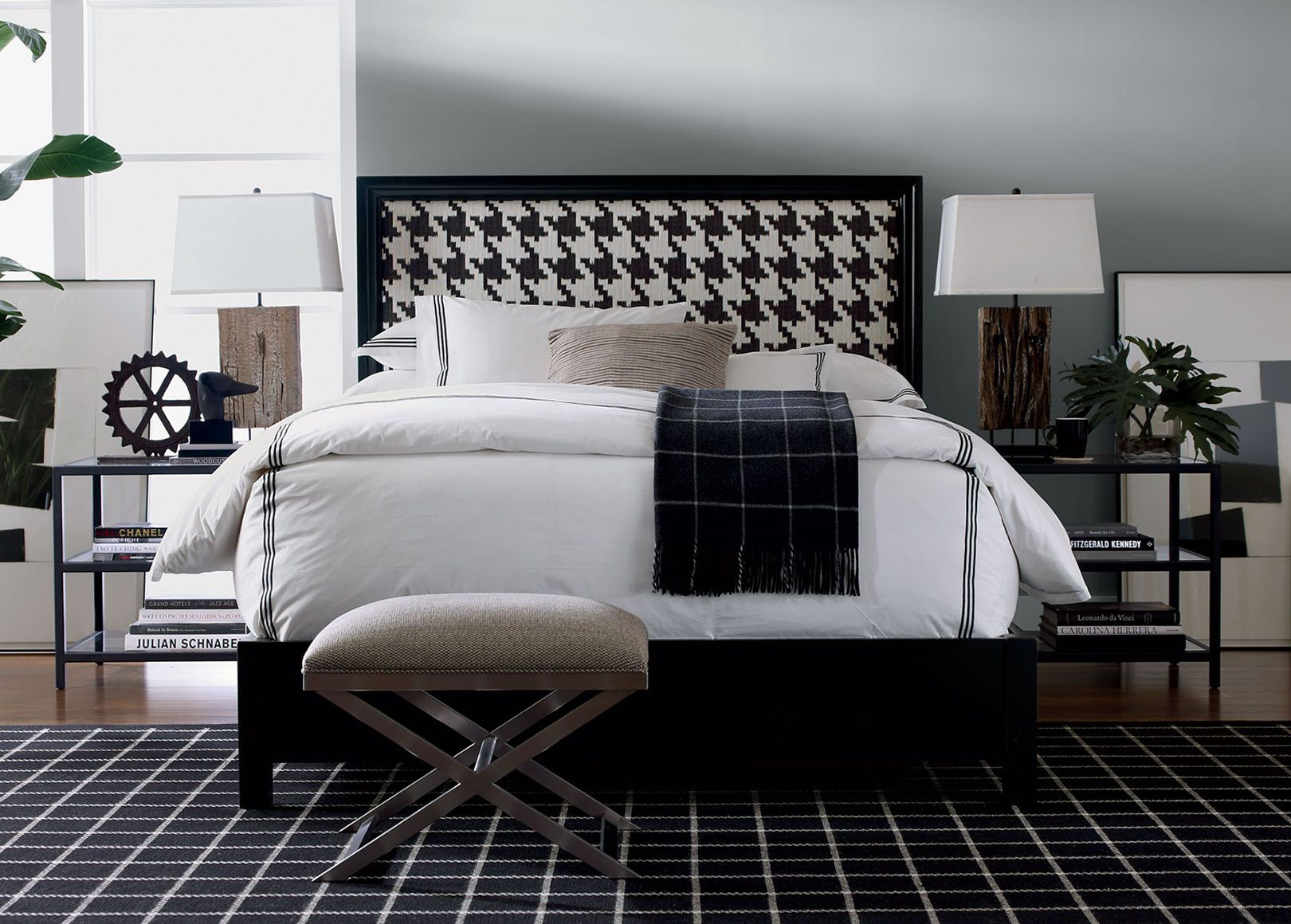 Houndstooth Bedroom By Ethan Allen Bold Choices Make A
