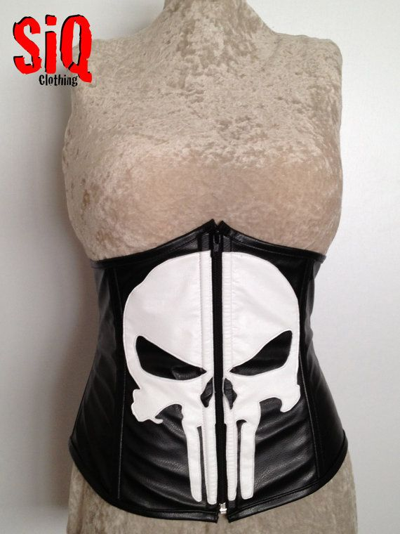 Hey, I found this really awesome Etsy listing at https://www.etsy.com/listing/118574189/punisher-waist-cincher-corset
