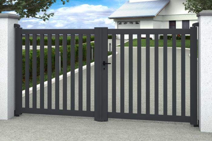 2vantaux Aden Anthracite Decouvrez De Nombreux Coloris Couleurs Disponible Blanc Ral 9016 Bleu Ral 5003 House Gate Design Iron Gate Design Gate Design