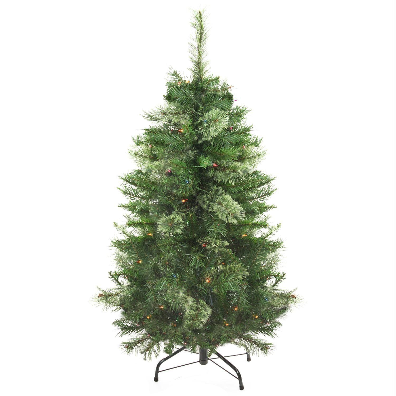 4\' Pre-Lit Atlanta Mixed Cashmere Pine Medium Artificial Christmas ...