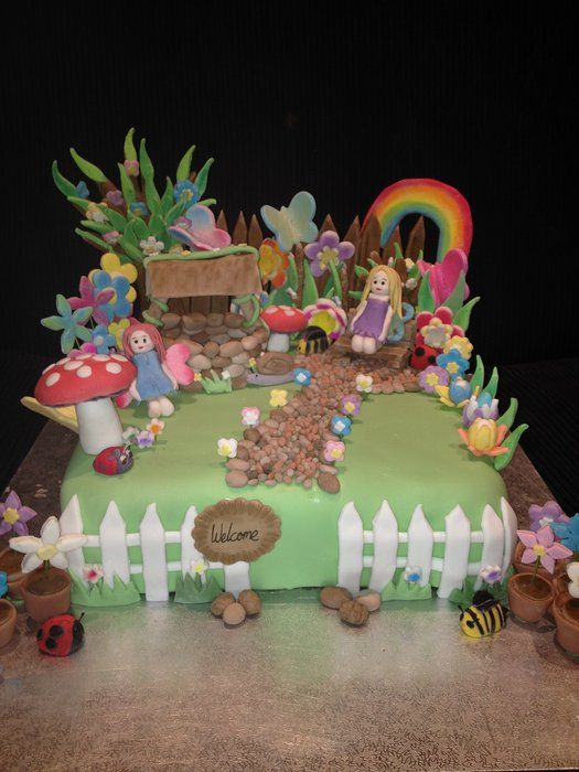 Fairy Garden Fairy Garden Cake Fairy Birthday Cake Fairy Birthday