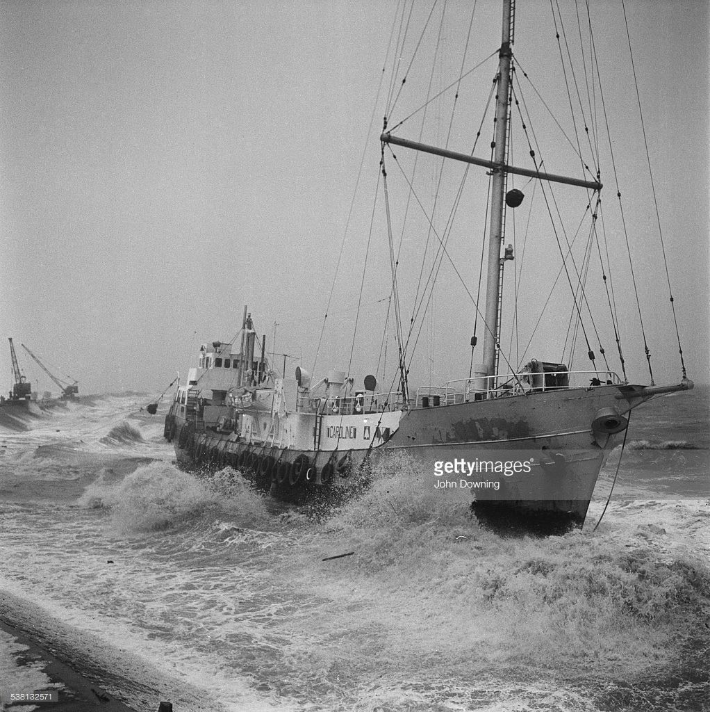 The 'Mi Amigo', a ship belonging to British radio station Radio