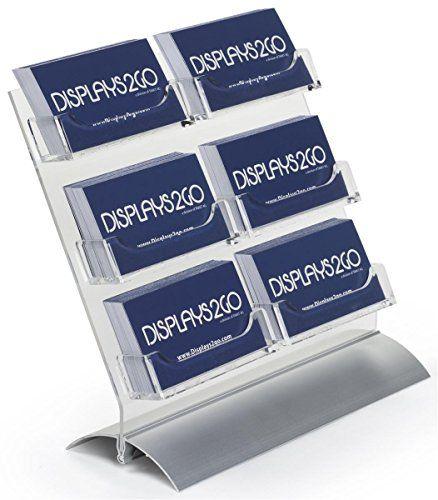 Displays2go set of 2 6 pocket business card rack and gift card displays2go set of 2 6 pocket business card rack and gift card display holder colourmoves
