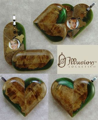Wood and Acrylic Lockets no butterfly - Illusion Lockets