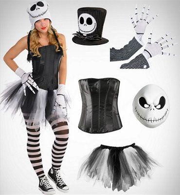 Brand New Jack Skellington Female Deluxe Adult Costume