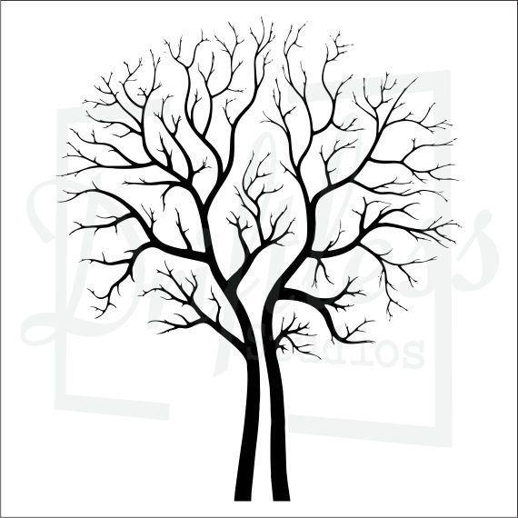 Bare Tree Stencil Family Branch