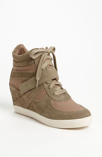 Love these but not sure if i could pull them off... Steve Madden 'Olympiaa' Wedge Sneaker   Nordstrom