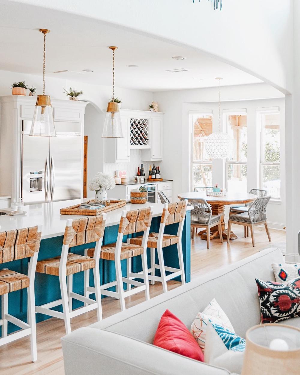 Capiz Honeycomb Chandelier In 2020 Beach House Interior Design Beach Cottage Exterior Beach House Interior