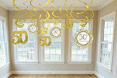 """Girlande """"Goldene Hochzeit"""" 50 Jahre Swirl Dekoration"""