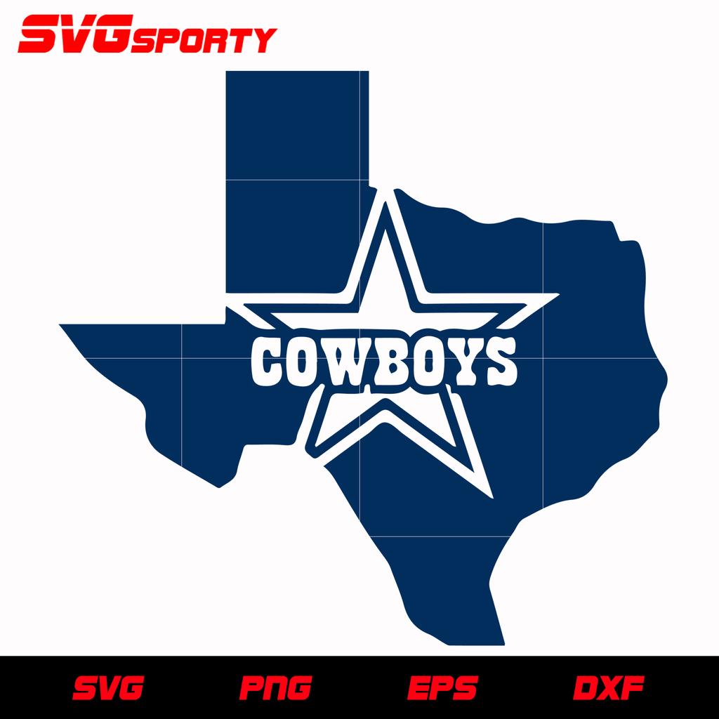 Dallas Home and Star SVG, NFL svg, eps, dxf, png, digital
