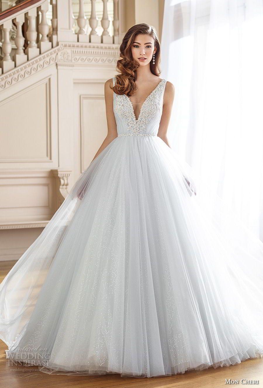 Mon Cheri Fall 2017 Wedding Dresses | Chapel train, Tulle skirts and ...