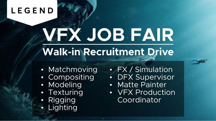 3d and vfx walk in interview mega recruitment drive