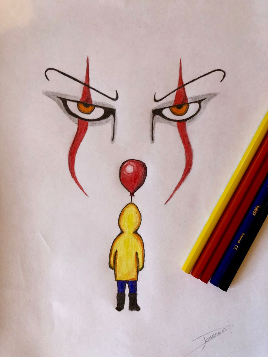 Drawing Of Pennywise And Georgie From The Hit Movie It Tutorial