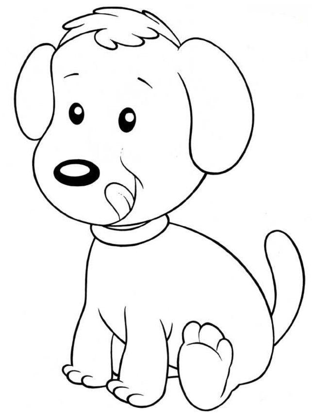 Coloriage Chien Trop Mignon.Coloriage Chien A Colorier Dessin A Imprimer Cats Dogs