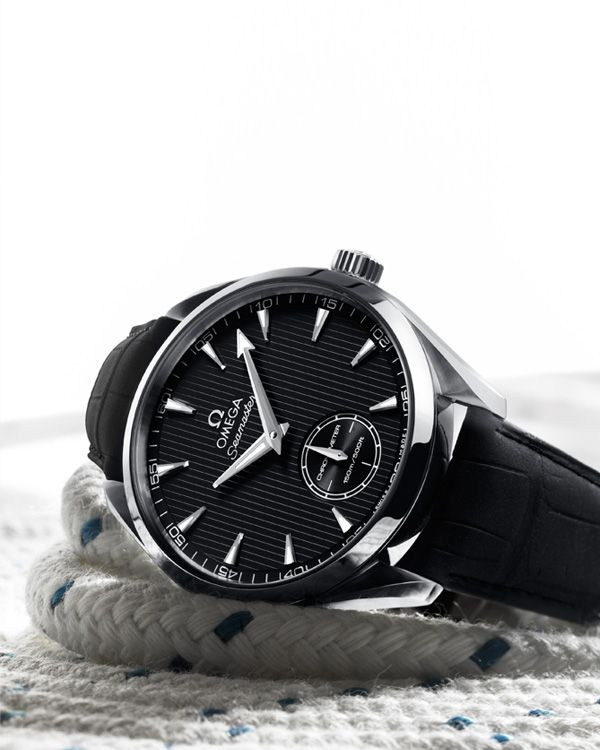 271f90a1ac2 OMEGA Watches  Seamaster Aqua Terra XXL Small Seconds - Steel on leather  strap - 231.13.49.10.06.001