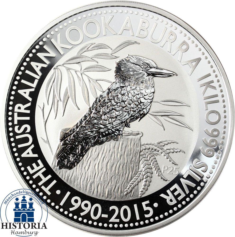 Australien 30 Dollars Silber 2015 Stgl Kookaburra Serie 1 Kg
