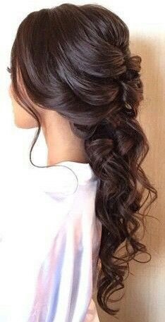 Pin By Bethany Learoyd On Hair Up Curly Hair Styles Down Hairstyles Bride Hairstyles