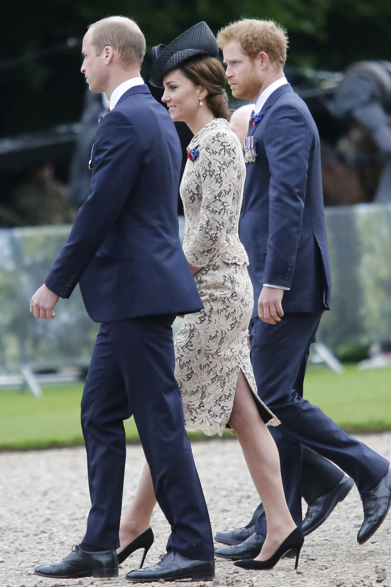 Lace dress kate middleton  Kate wore a custommade tan lace dress with dark lining u I