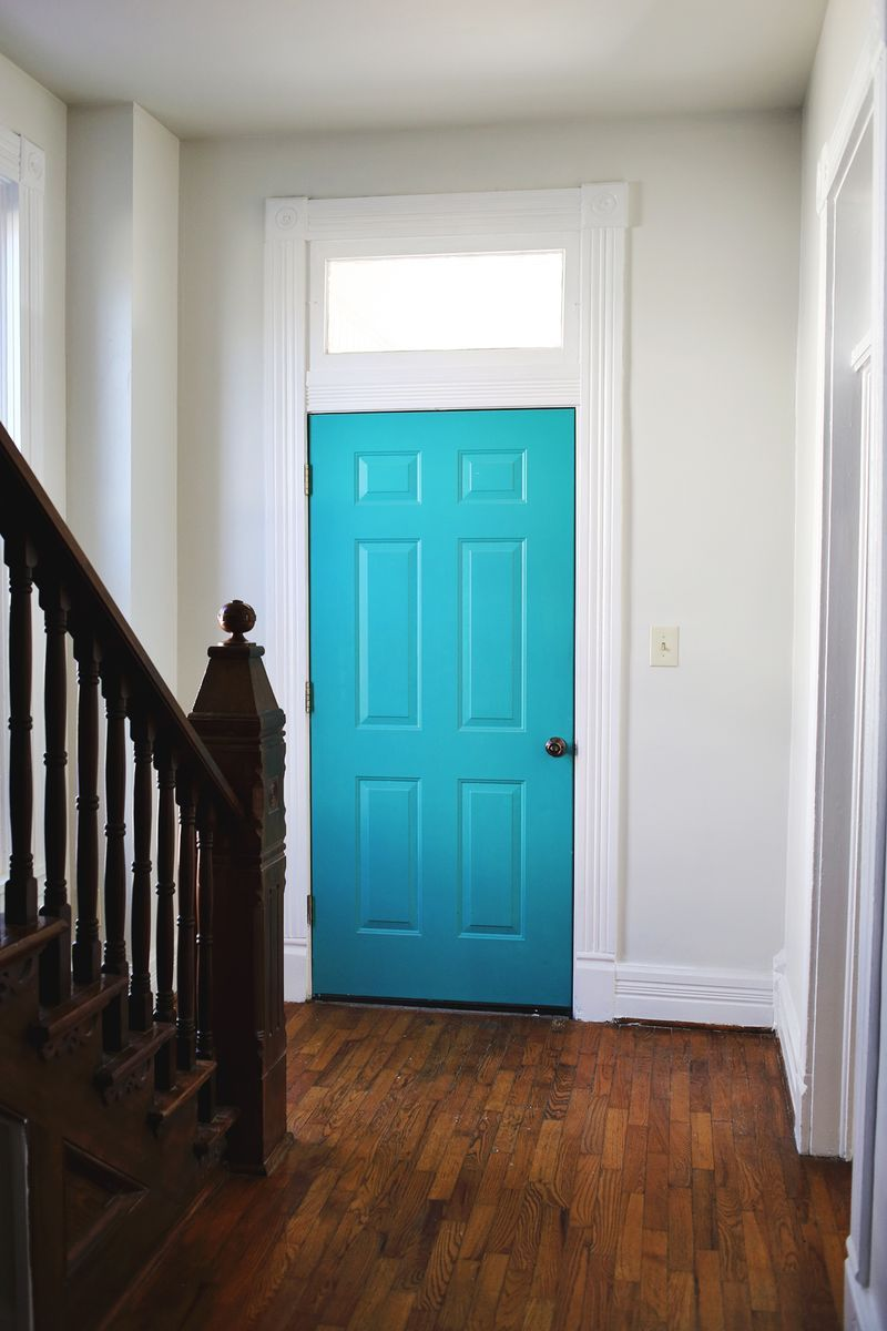 ABM Studio: The Entryway (Progress. Turquoise Front DoorsBright ...