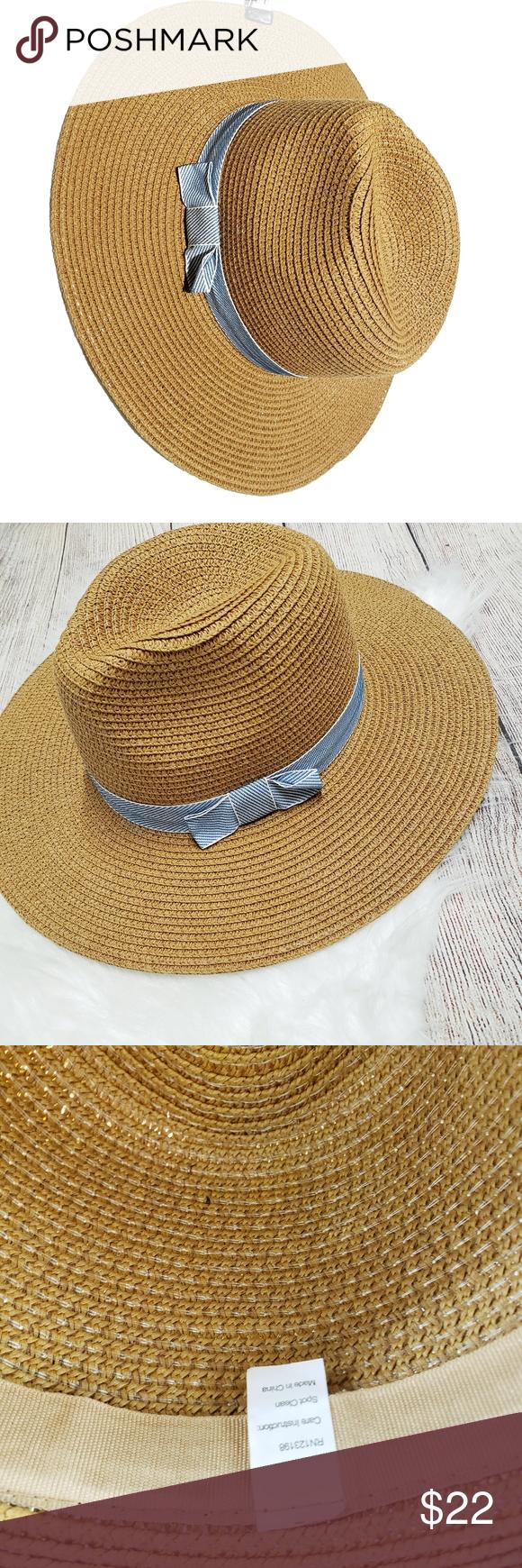 Blue Ribbon Straw Hat Light Blue Ribbon Blue Ribbon Women Accessories Hats