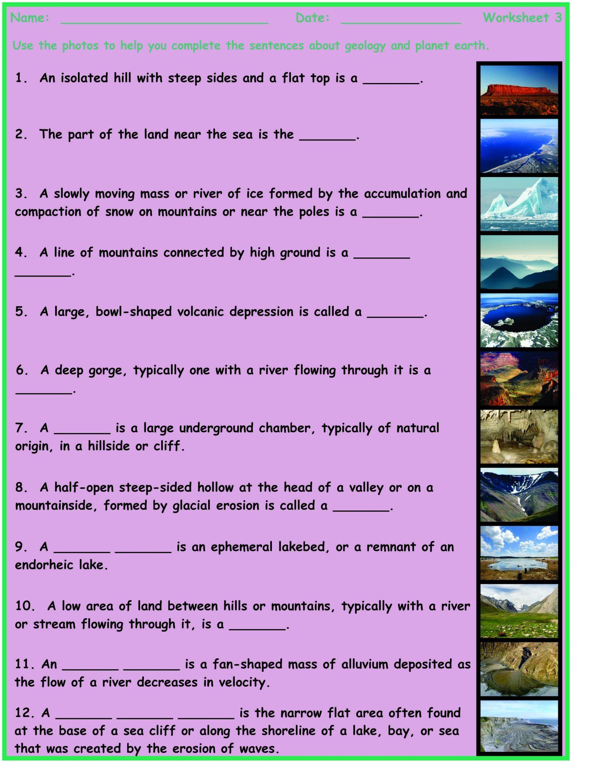 Planet Earth Ocean Deep Worksheet Geology Planet Earth 7
