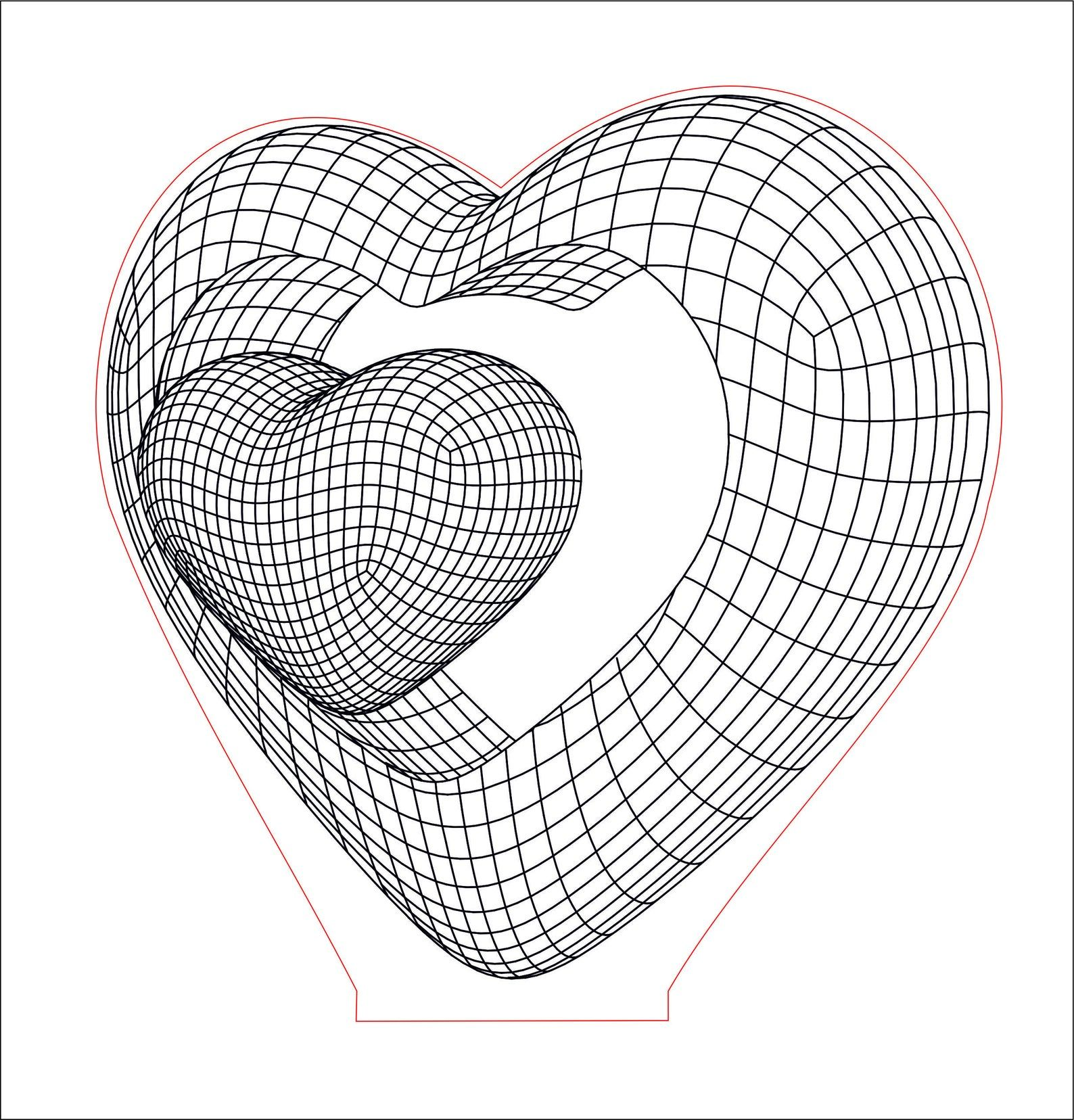 Double Heart 3d Illusion Acrylic Led Lamp Vector Dxf Cdr Etsy In 2020 Lamp Tattoo 3d Illusions 3d Illusion Lamp