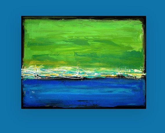 Acrylic Abstract Painting Fine Art on Canvas by OraBirenbaumArt, $365.00