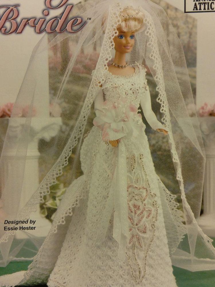 CROCHET BRIDE BARBIE 11.5 FASHION DOLL DRESS PATTERN ANNIE'S ATTIC 871319 #AnniesAttic