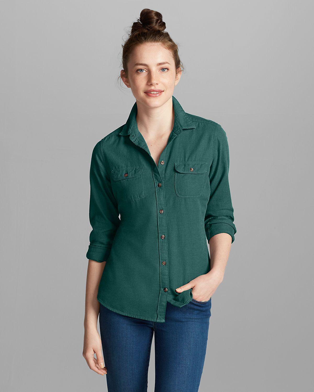 Women's Stine's Favorite Flannel Shirt Solid Eddie