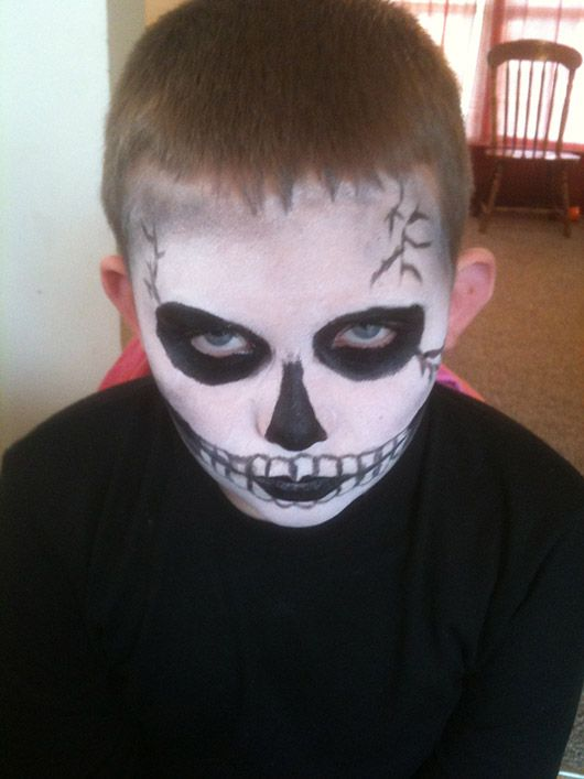easy zombie face painting google search - Halloween Easy Face Painting