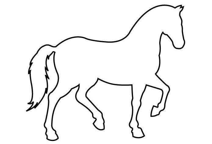 bildergebnis für horse simple outline