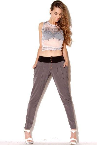 Catwalk stone parachute pants-LALAjeans.com-$35
