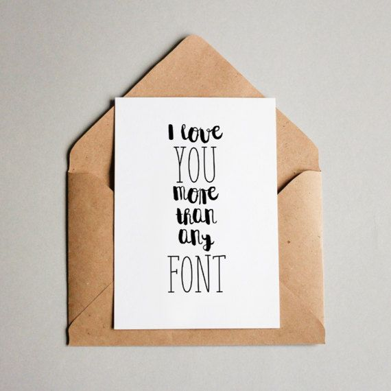 Funny Lettering Card Funny Love Print and iphone wallpaper for a