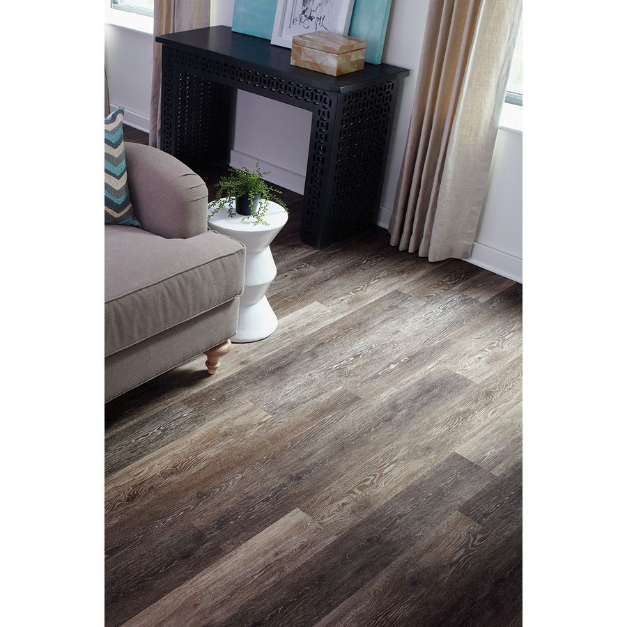 Shop stainmaster 10 piece 574 in x 4774 in washed oak umber vinyl plank floating flooring more and more people are selecting vinyl floors since their floor of preference dailygadgetfo Image collections