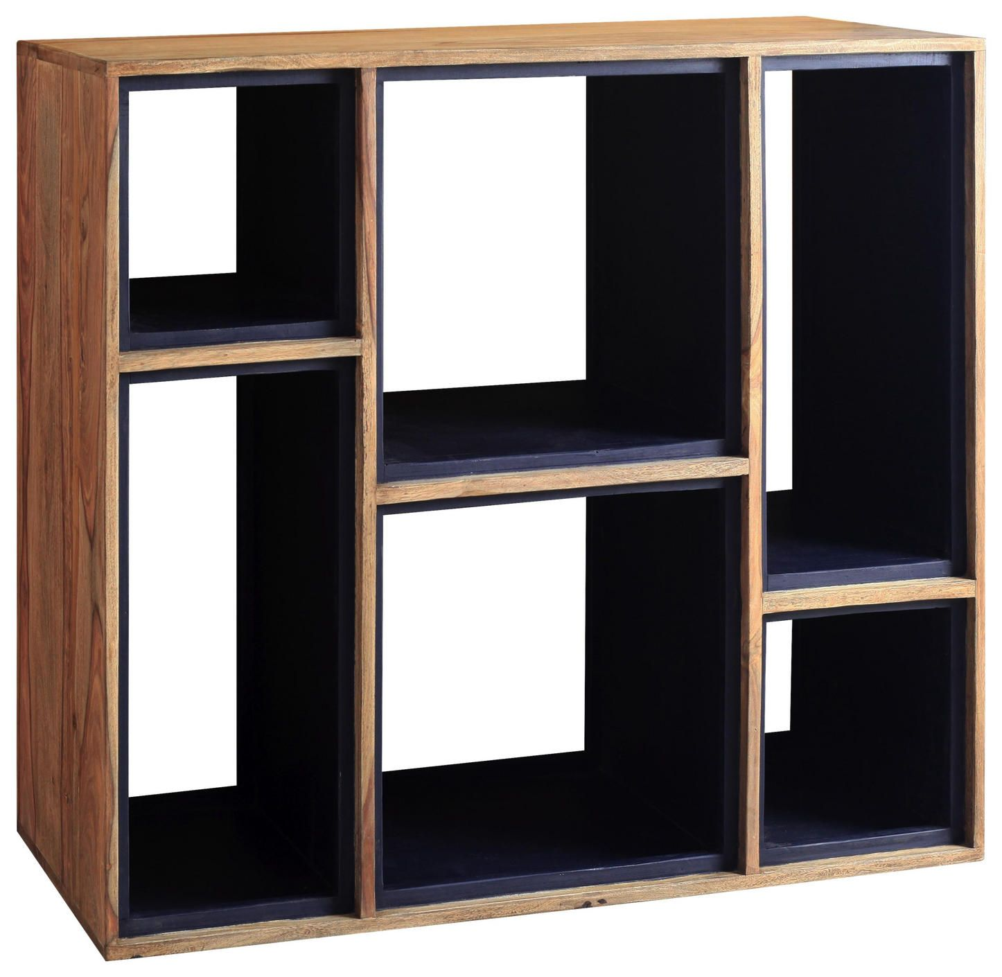 Regal Aus Sheesham Massiv Mit 6 Fachern Kaufen Regal Regal Massivholz Regal Cube