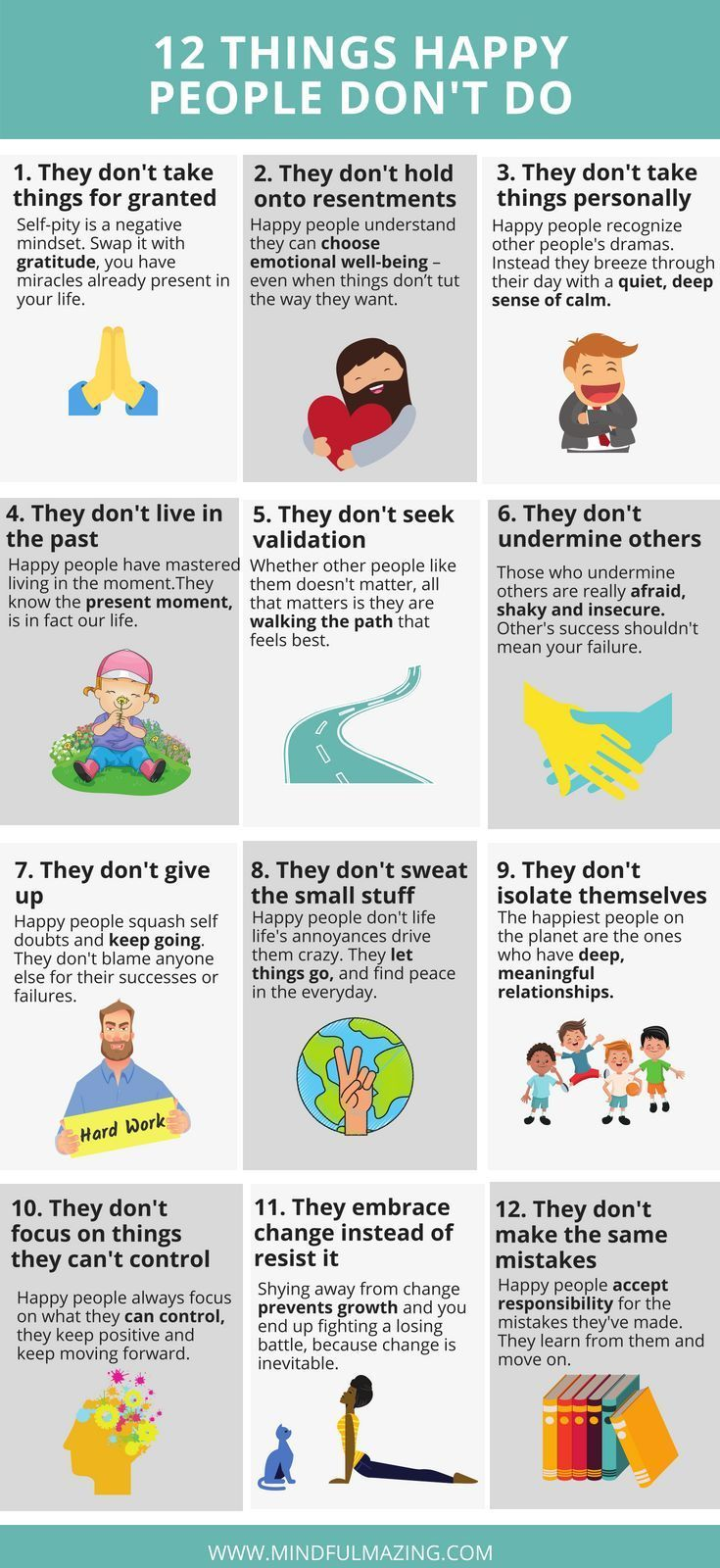 13 Things Happy People Don't Do
