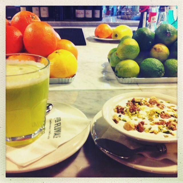 Breakfast at Porto Fluviale...