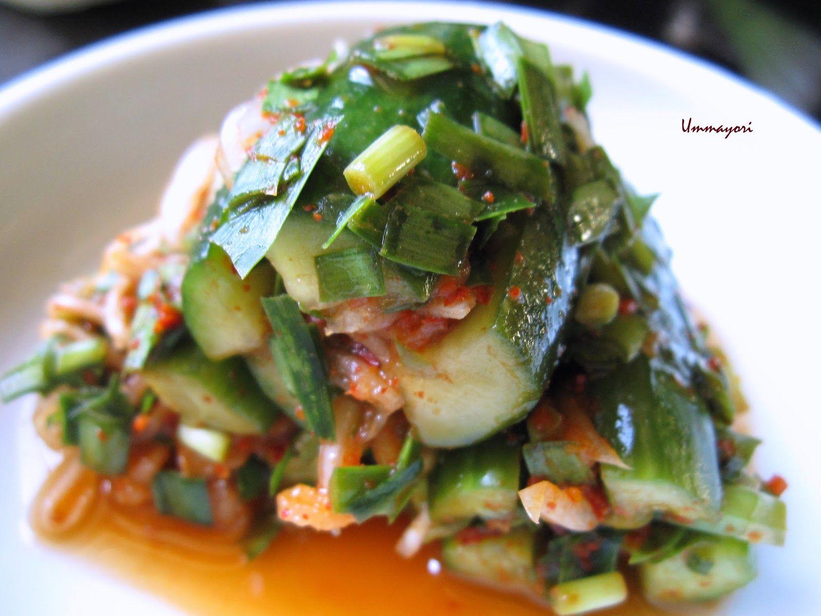Stuffed Cucumber Kimchi - Oi Sobaegi 오이소박이   Raw food