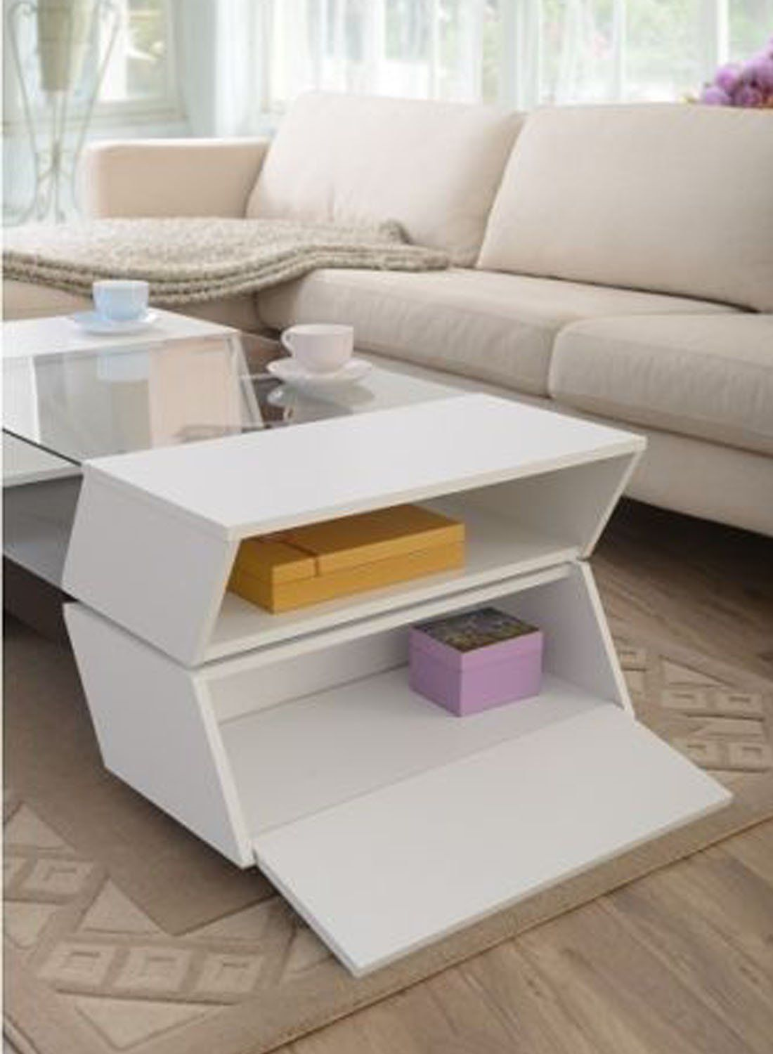 Youzee Coffee Table Tables With Storage Glass Living White Wood Room Modern Furniture White Check Out The Image By Modern Sofa Table Coffee Table Furniture [ 1500 x 1100 Pixel ]