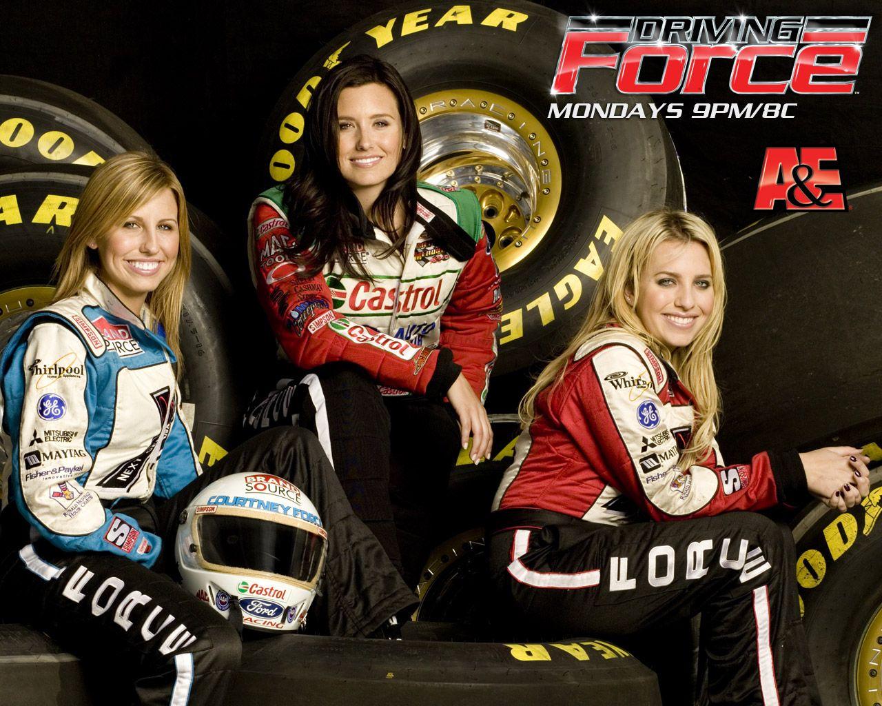 John Force Daughters | John Force and his three beautiful drag-racing daughters.
